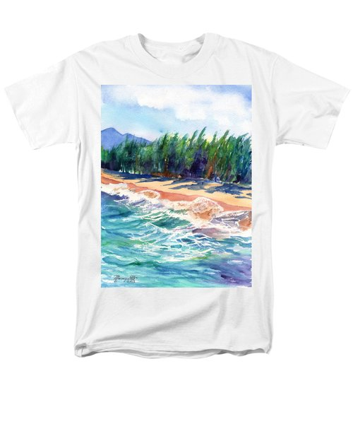 Men's T-Shirt  (Regular Fit) featuring the painting North Shore Beach 2 by Marionette Taboniar