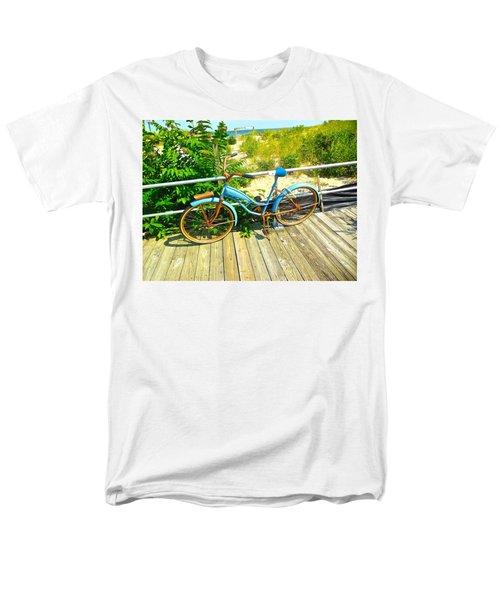 Men's T-Shirt  (Regular Fit) featuring the photograph Ocean Grove Bike by Joan Reese
