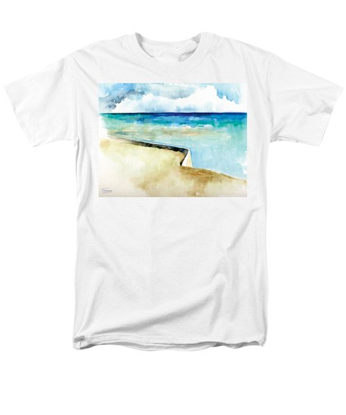 Ocean Pier In Key West Florida Men's T-Shirt  (Regular Fit) by Catherine Twomey