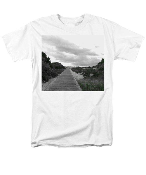Men's T-Shirt  (Regular Fit) featuring the photograph Ocean Walk Island Beach State Park New Jersey by Pamela Hyde Wilson