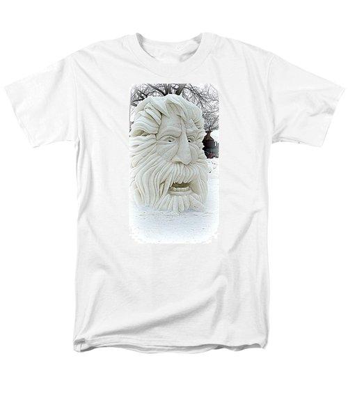 Old Man Winter Snow Sculpture Men's T-Shirt  (Regular Fit) by Kay Novy