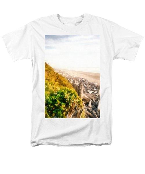 Olympic Peninsula Driftwood Men's T-Shirt  (Regular Fit) by Michelle Calkins
