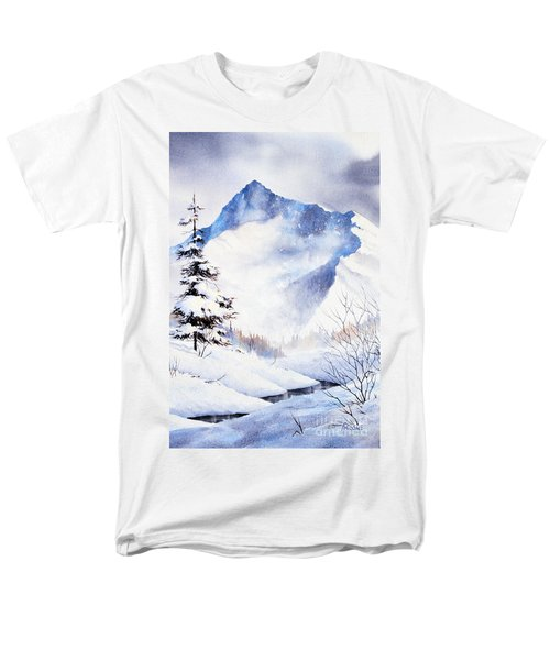 Men's T-Shirt  (Regular Fit) featuring the painting O'malley Peak by Teresa Ascone