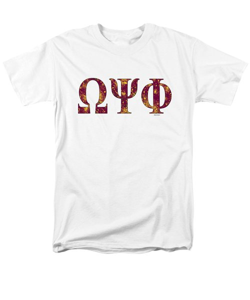 Omega Psi Phi - White Men's T-Shirt  (Regular Fit) by Stephen Younts