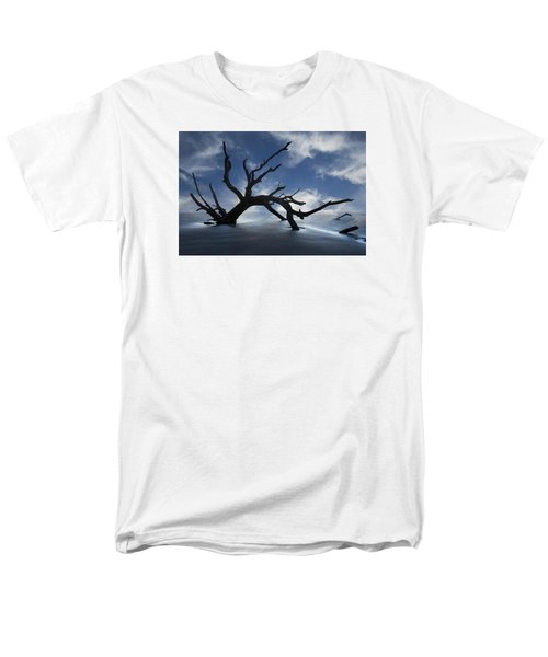 Men's T-Shirt  (Regular Fit) featuring the photograph On A Misty Morning by Debra and Dave Vanderlaan