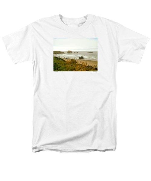 Men's T-Shirt  (Regular Fit) featuring the digital art Oregon Beach by Kenneth De Tore