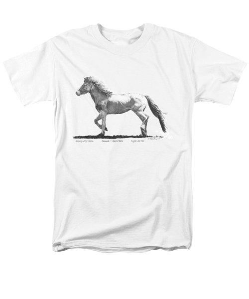 Men's T-Shirt  (Regular Fit) featuring the drawing Oshunnah Stepping Out For Freedom by Marianne NANA Betts