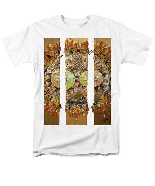 Men's T-Shirt  (Regular Fit) featuring the tapestry - textile Osun Sun by Apanaki Temitayo M