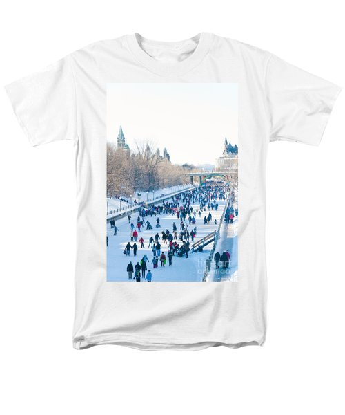 Ottawa Rideau Canal Men's T-Shirt  (Regular Fit) by Cheryl Baxter