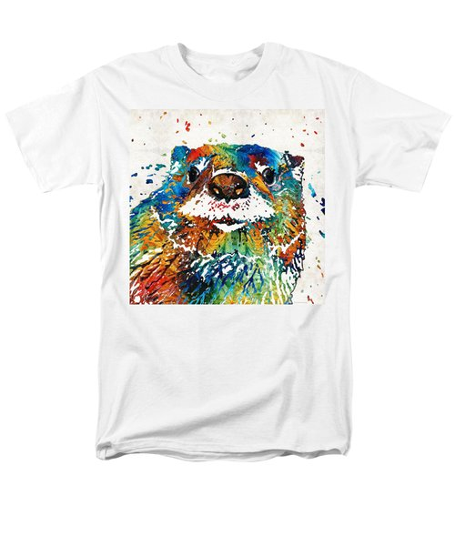 Otter Art - Ottertude - By Sharon Cummings Men's T-Shirt  (Regular Fit) by Sharon Cummings