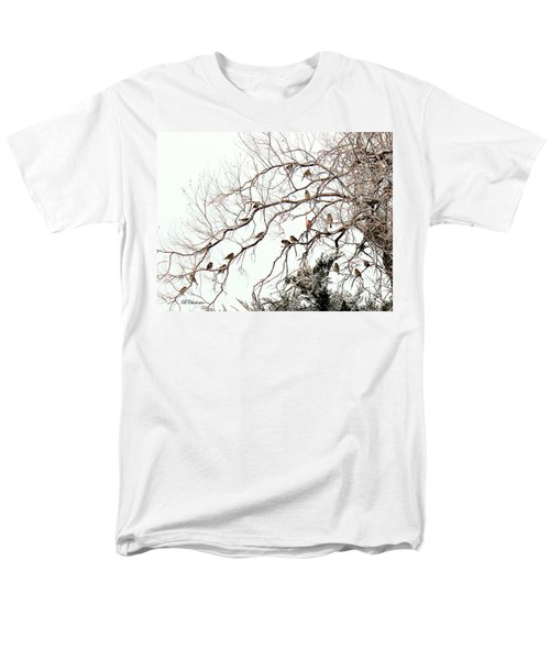 Men's T-Shirt  (Regular Fit) featuring the photograph Out On A Limb First Snow by Barbara Chichester