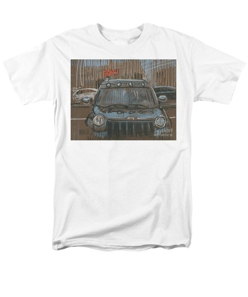 Men's T-Shirt  (Regular Fit) featuring the painting Outside Biglots by Donald Maier