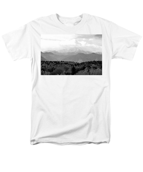 Men's T-Shirt  (Regular Fit) featuring the photograph Over The Hills To Pikes Peak by Clarice  Lakota