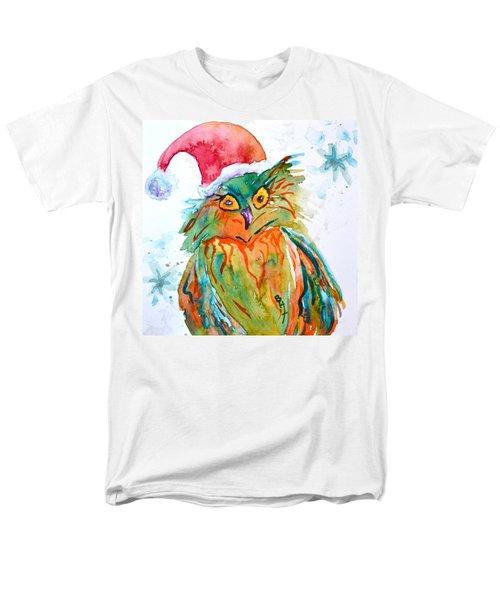 Men's T-Shirt  (Regular Fit) featuring the painting Owlellujah by Beverley Harper Tinsley