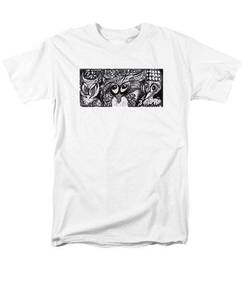 Men's T-Shirt  (Regular Fit) featuring the drawing Owls Eyes by Adria Trail