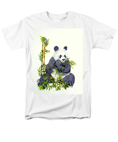 Panda  Men's T-Shirt  (Regular Fit) by Terri Mills