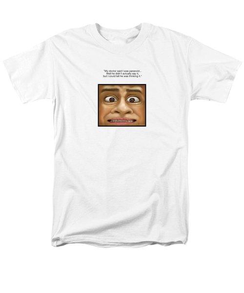 Men's T-Shirt  (Regular Fit) featuring the digital art Paranoia by Scott Ross