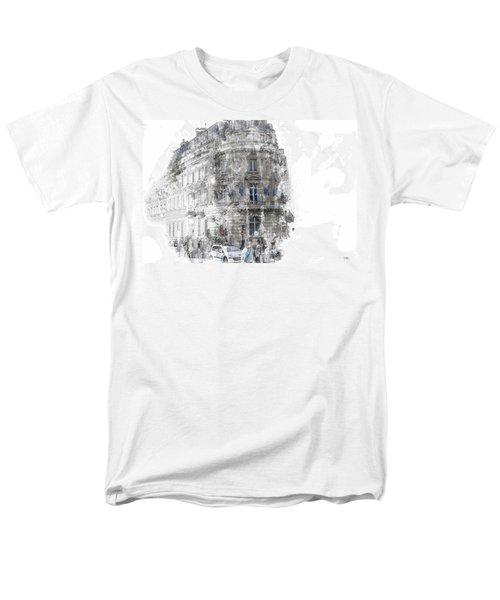 Paris With Flags Men's T-Shirt  (Regular Fit) by Evie Carrier