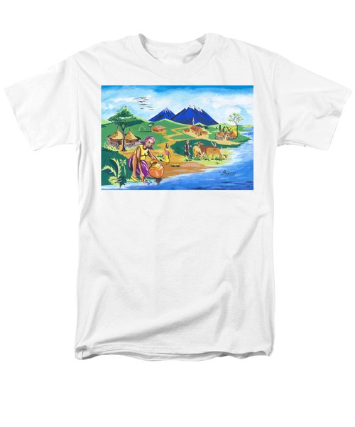 Paysage Du Nord Du Rwanda Men's T-Shirt  (Regular Fit) by Emmanuel Baliyanga