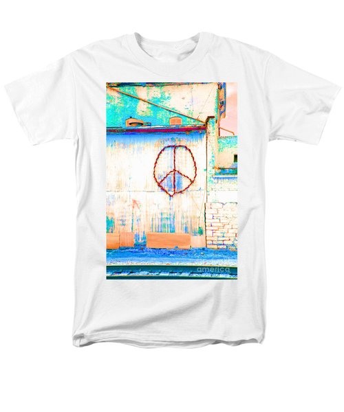 Peace 1 Men's T-Shirt  (Regular Fit) by Minnie Lippiatt