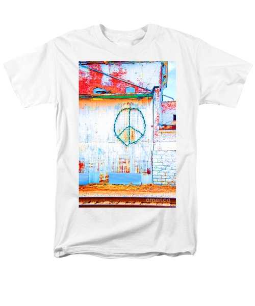 Peace 3 Men's T-Shirt  (Regular Fit) by Minnie Lippiatt