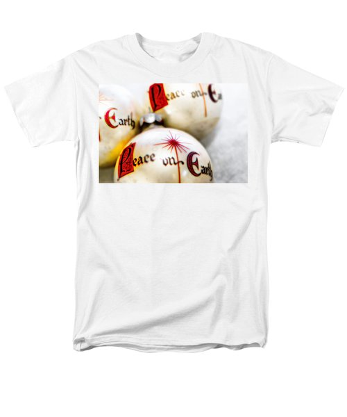 Men's T-Shirt  (Regular Fit) featuring the photograph Antique Peace On Earth Christmas Decorations by Vizual Studio