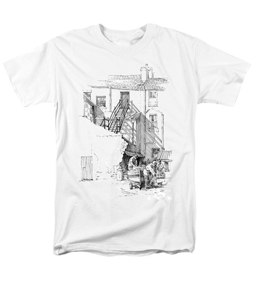 Men's T-Shirt  (Regular Fit) featuring the drawing Peel Back Street by Paul Davenport