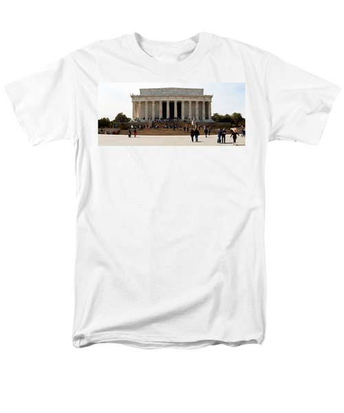 People At Lincoln Memorial, The Mall Men's T-Shirt  (Regular Fit) by Panoramic Images