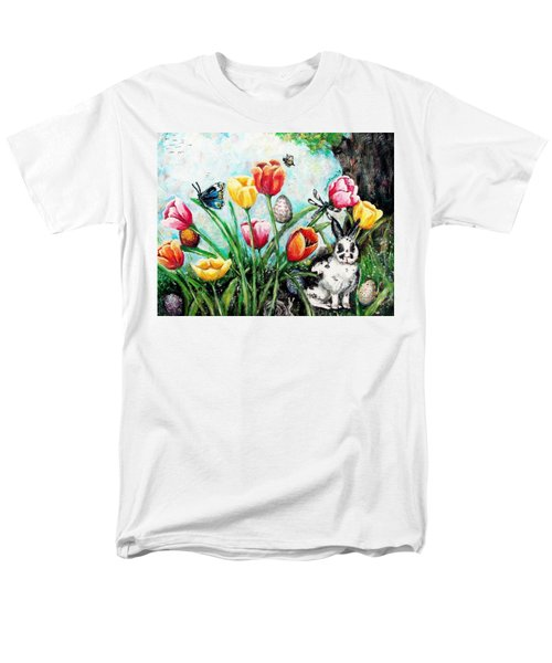 Men's T-Shirt  (Regular Fit) featuring the painting Peters Easter Garden by Shana Rowe Jackson