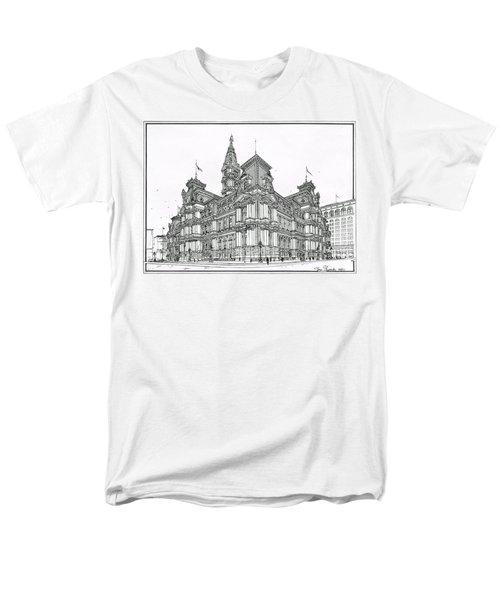Philadelphia City Hall 1911 Men's T-Shirt  (Regular Fit) by Ira Shander