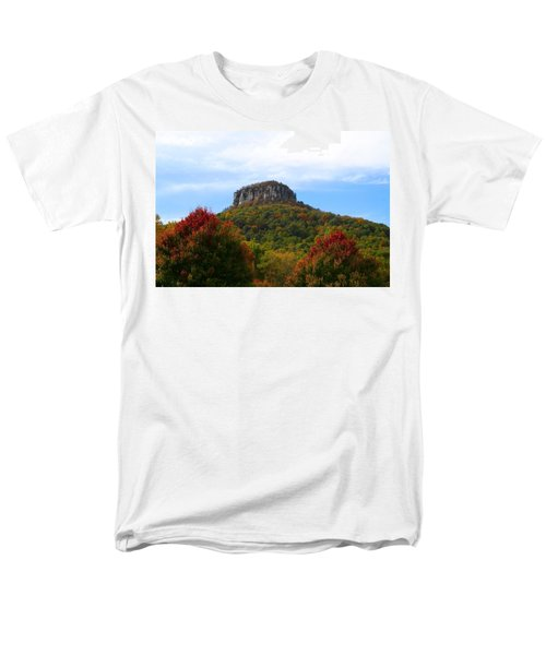 Pilot Mountain From 52 Men's T-Shirt  (Regular Fit) by Kathryn Meyer