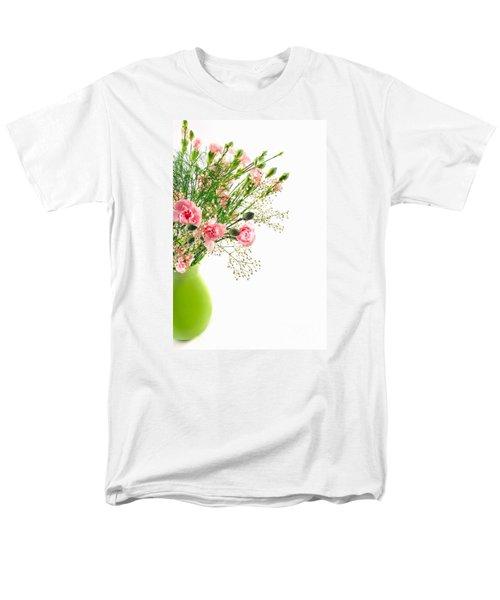 Pink Carnation Flowers Men's T-Shirt  (Regular Fit) by Vizual Studio