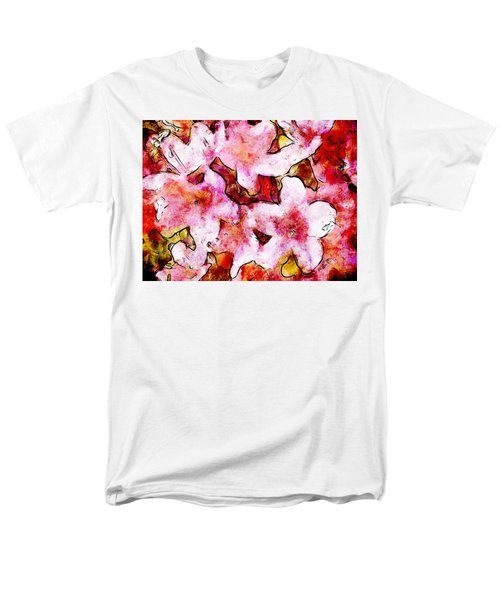 Men's T-Shirt  (Regular Fit) featuring the painting Pink Flowers 2 by Greg Collins