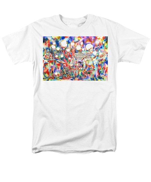 Pink Floyd Live Concert Watercolor Painting.1 Men's T-Shirt  (Regular Fit)
