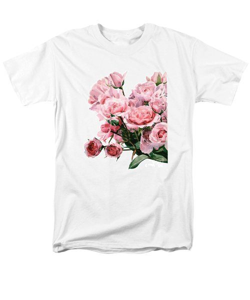 Pink Rose Bouquet Men's T-Shirt  (Regular Fit) by Greta Corens