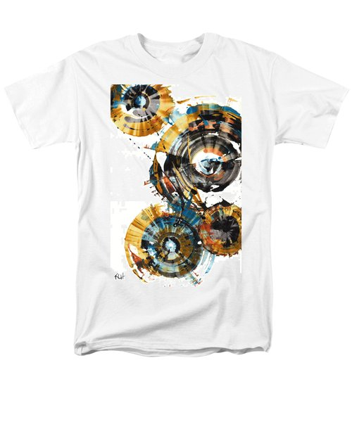 Men's T-Shirt  (Regular Fit) featuring the painting Playing In The Wind 1000.042312 by Kris Haas