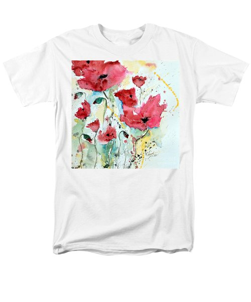 Men's T-Shirt  (Regular Fit) featuring the painting Poppies 05 by Ismeta Gruenwald