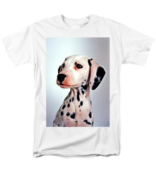 Portrait Of Dalmatian Dog Men's T-Shirt  (Regular Fit) by Lanjee Chee