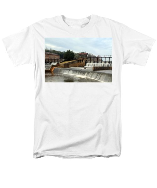Prattville Dam Prattville Alabama Men's T-Shirt  (Regular Fit) by Charles Beeler