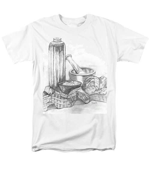 Men's T-Shirt  (Regular Fit) featuring the drawing Preparing Starter Course by Teresa White