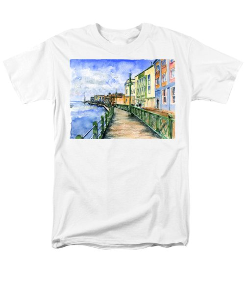 Promenade In Barbados Men's T-Shirt  (Regular Fit) by John D Benson