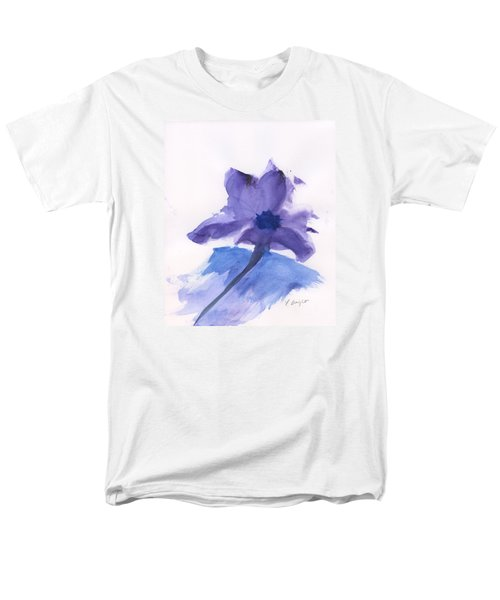 Purple Flower Men's T-Shirt  (Regular Fit) by Frank Bright
