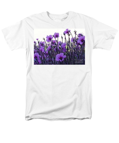 Men's T-Shirt  (Regular Fit) featuring the photograph Purple Flowers Dance by Jasna Gopic
