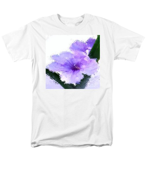 Purple Petunia Men's T-Shirt  (Regular Fit) by Anthony Fishburne