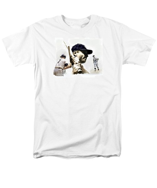 Quality Of Greatness Mickey Mantle Men's T-Shirt  (Regular Fit) by Iconic Images Art Gallery David Pucciarelli