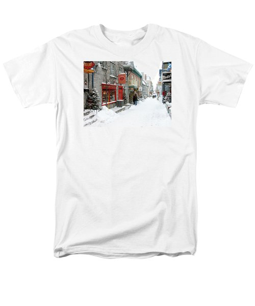 Quebec City In Winter Men's T-Shirt  (Regular Fit) by Thomas R Fletcher