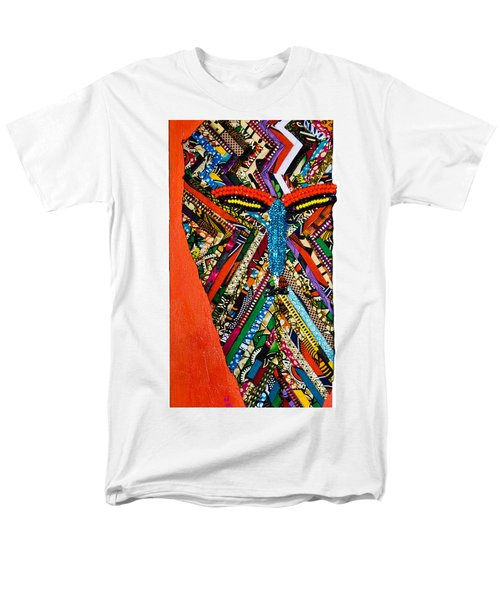 Men's T-Shirt  (Regular Fit) featuring the tapestry - textile Quilted Warrior by Apanaki Temitayo M