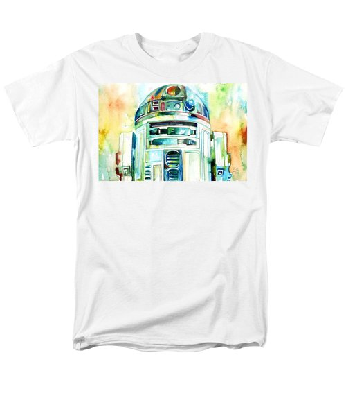 R2-d2 Watercolor Portrait Men's T-Shirt  (Regular Fit) by Fabrizio Cassetta