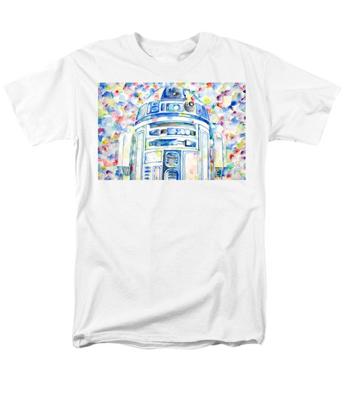 R2-d2 Watercolor Portrait.1 Men's T-Shirt  (Regular Fit) by Fabrizio Cassetta