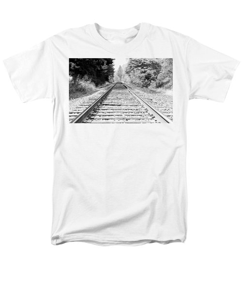 Railroad Tracks Men's T-Shirt  (Regular Fit) by Athena Mckinzie